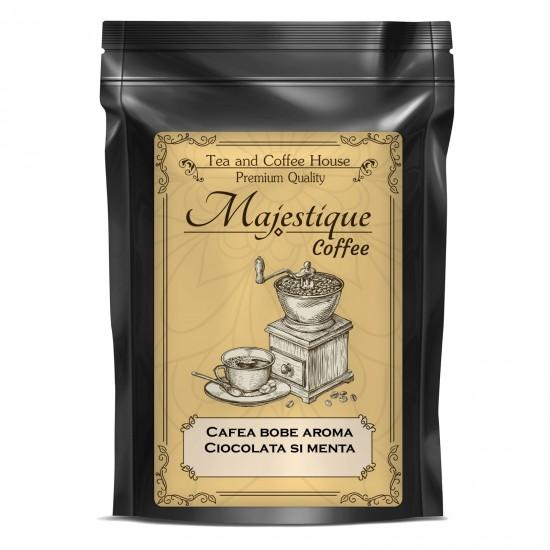 Cafea boabe cu aroma de ciocolata si menta