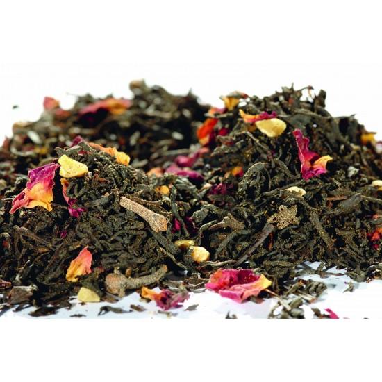 Ceai negru cu portocala si martipan
